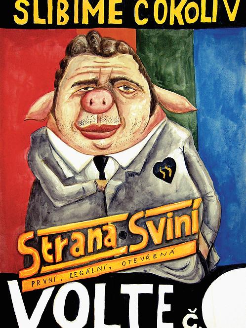Strana Sviní - PLAKÁT A2