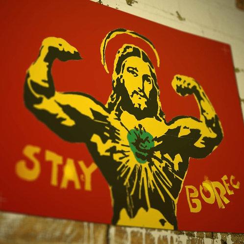 plakát - STAY BOREC A2