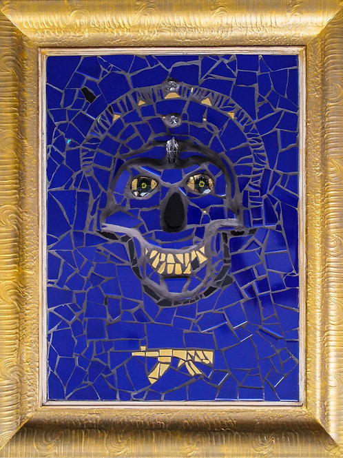 Pozdrav z Plejád - keramická mozaika obraz