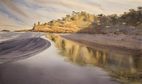 Halftides Beach II 31cm x 54cm. SOLD