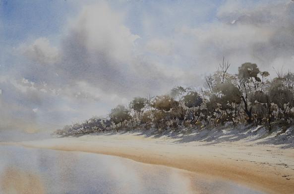 Tallow Beach Littoral 35cm x 56cm. Available.
