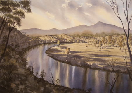 Clarence River 50cm x 70cm. SOLD