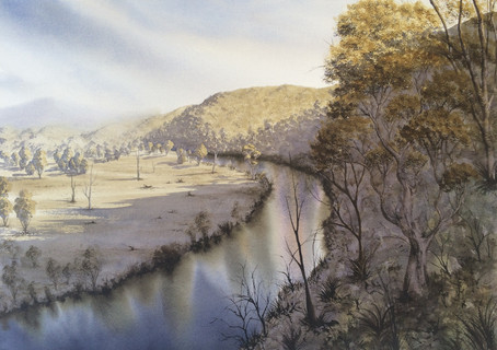 Tweed River 50cm x 70cm. Available