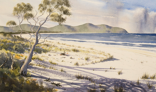 Storms Over Cape Hawke 31cm x 54cm. SOLD
