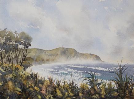 Cape Byron Noon 21cm x 31cm. Available.