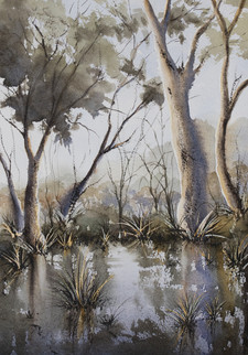 Belongil Creek 30cm x 40cm. Available