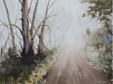 The Fog 30cm x 40cm. SOLD