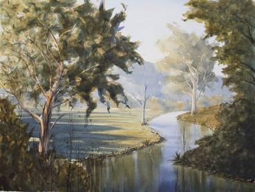 Rous River 30cm x 40cm. SOLD