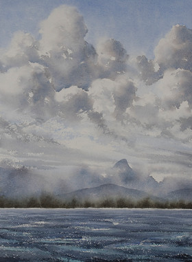 Wollumbin Storms, 30cm x 40cm. Available