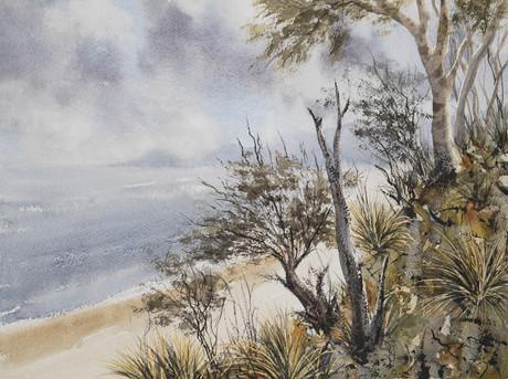 Main Beach Dunes Byron 30cm x 40cm. SOLD.