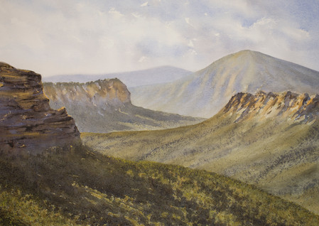 Blue Mountains 50cm x 70cm. Available