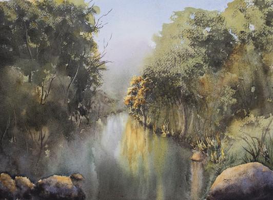Wilson's Creek 26cm x 36cm. SOLD