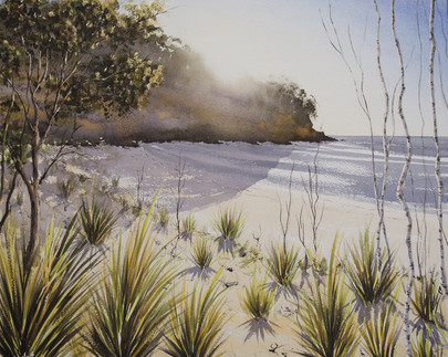 Narrawallee Beach 40cm x 50cm. Available