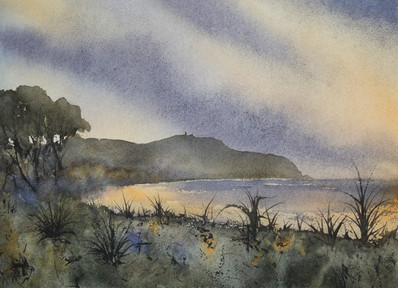 Cape Byron Morning 21cm x 31cm. Available.