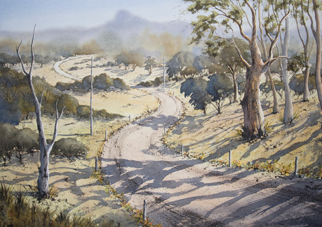 Road to Wollumbin 50cm x 70cm. SOLD