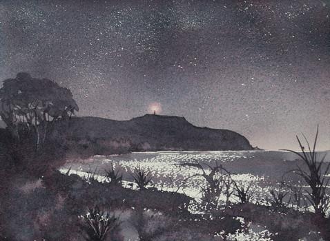 Cape Byron Night 21cm x 31cm. Available