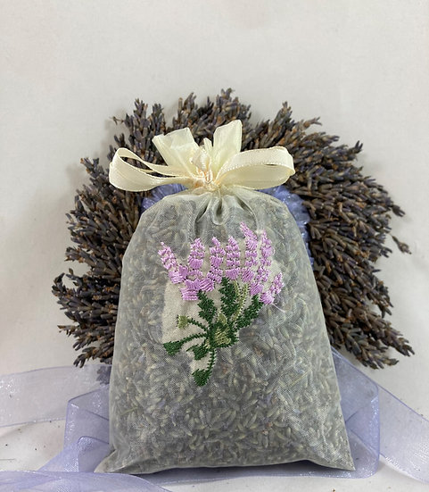 Embroidered Organza Sachet