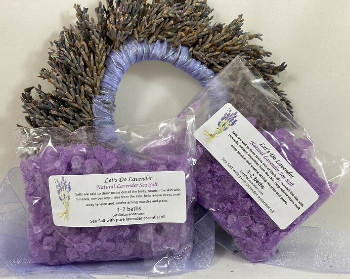 Natural Lavender Sea Salt