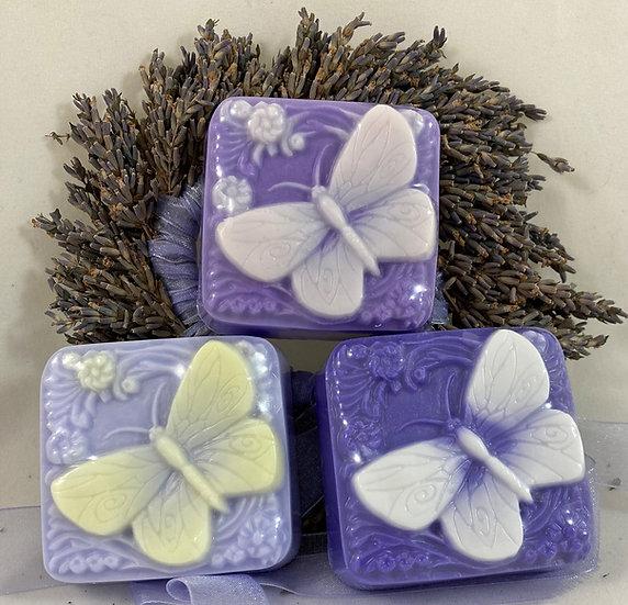 Lavender Butterfly Shea Butter Soap