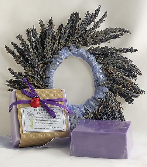 Lavender Square Goat's Milk Soap