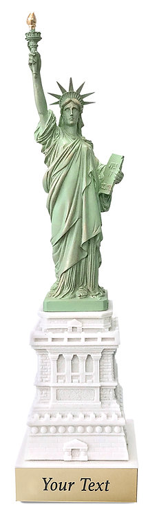 """Liberty Replica Engraved - Height 19 1/2"""""""