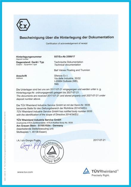 ATEX 2014_34_EU Certificate of Floating