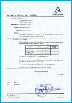 SIL Certificate of Floating Ball Valves.
