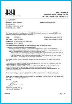 ABSA Certificate of Authorization Ball V
