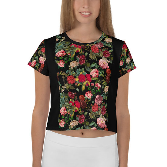éanè Exclusive - Womens Flowers Cropped Tee
