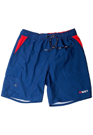 "Eco-Friendly Quick Dry UV Protection Perfect Fit NAVY Beach Shorts ""Nept"