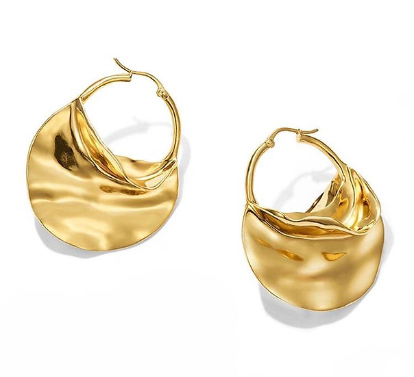 Women's Shenia 14k Gold Hoop Earrings