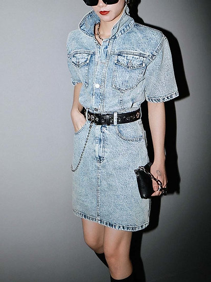Women's Seina Pocket Denim Dress - Cotton Polyester