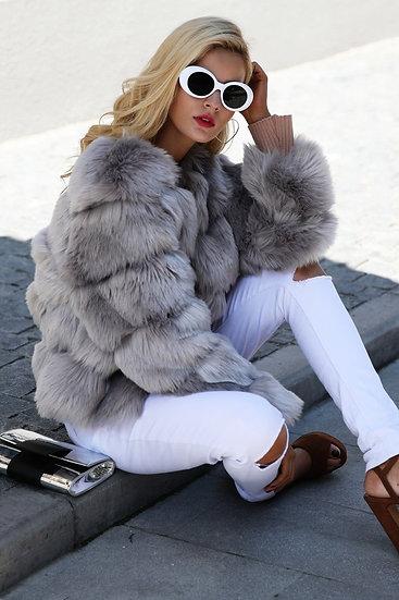 Women's Vintage Fluffy Faux Fur Coat