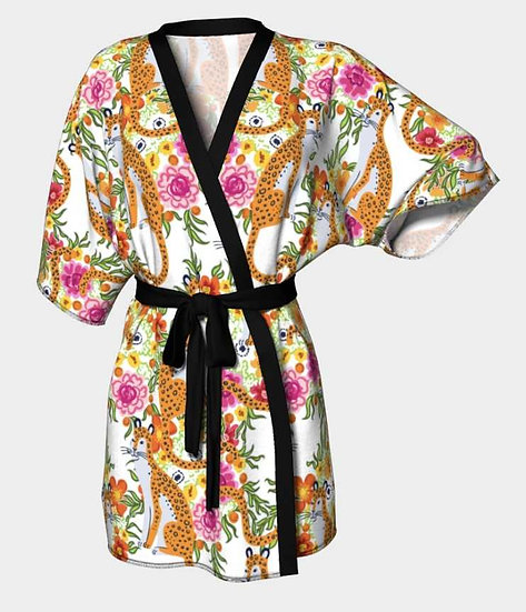 KIMONO1 - Lightweight Silky Knit Kimono Robe