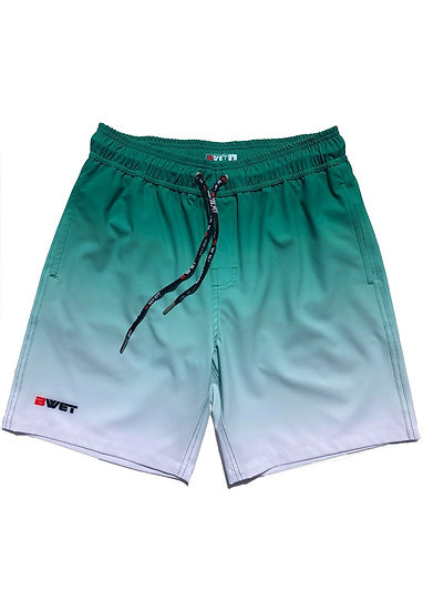 """Eco-Friendly Quick Dry UV Protection Perfect Fit GREEN Beach Shorts """"Su"""
