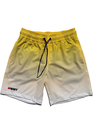 "Eco-Friendly Quick Dry UV Protection Perfect Fit YELLOW Beach Shorts ""Su"