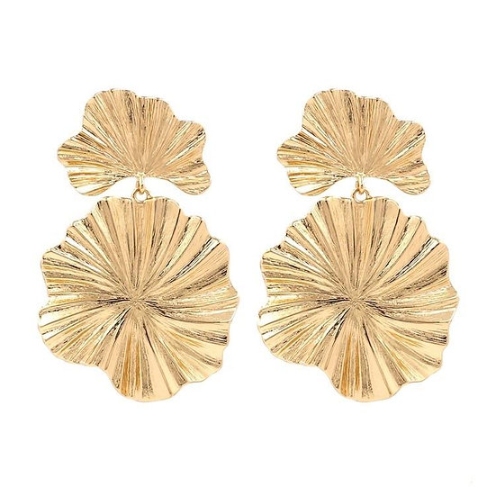 Women's Golden Blossom Drop Earrings