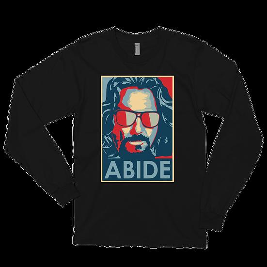 Men's Big Lebowski Abide, Hope Style Artwork Long Sleeve Shirt
