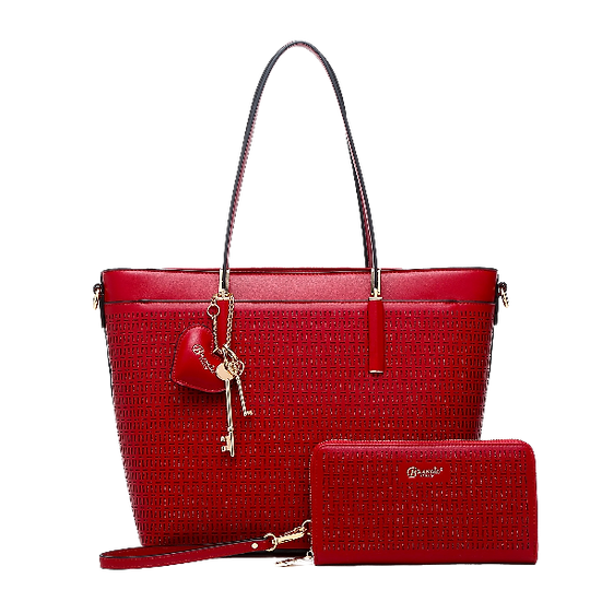 Women's Sacred Love Crystal Handmade Fashion Tote Bag (Bag Only)