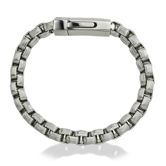 TEXTUR Men's Textured Box Chain Bracelet