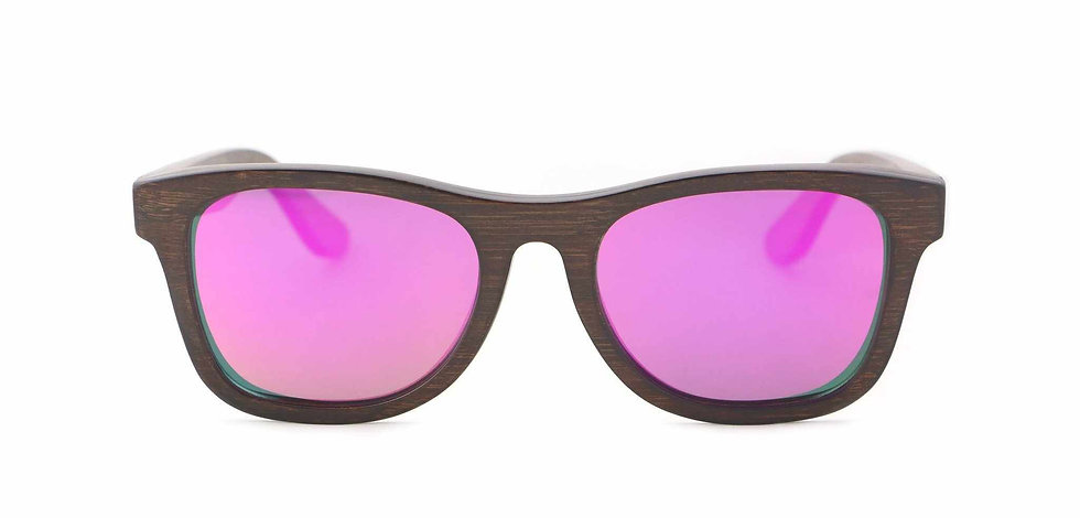 Panda MONROE Bamboo Sunglasses - Black/ Red