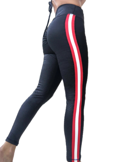 Women's Street Stripes Felina Faux Leather Leggings