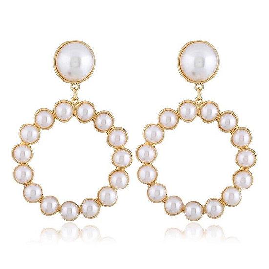 Women's Vintage Drop Pearl Earrings
