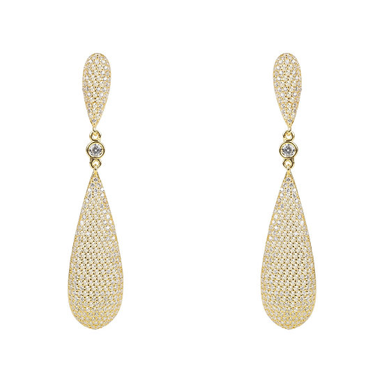 Women's Coco Long Drop Earrings Gold