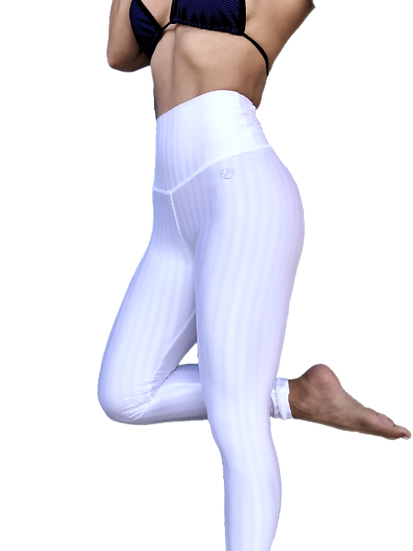 Women's Flow Pure White Leggings in speciality fabric