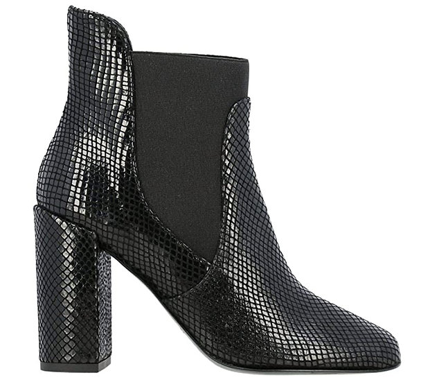 Women's Ankle Boots in Black Python Leather - Patrizia Pepe