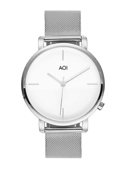 Mens KYOTO | 2.0 Watch Silver With Steel & Leather Strap Included