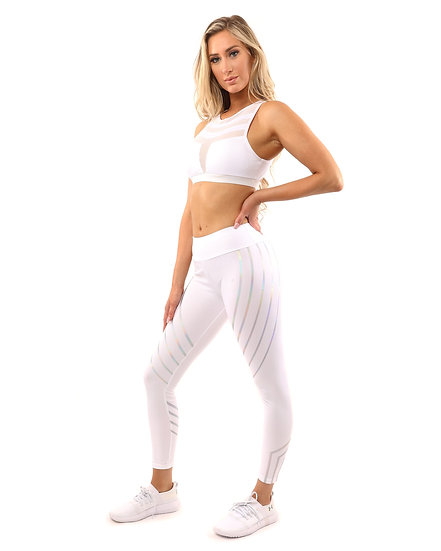 Women's Laguna Set - Leggings & Sports Bra - White