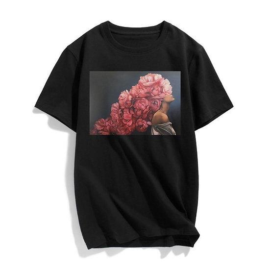 Womens Kiyohara Rose Printed T-Shirt Short Sleeves