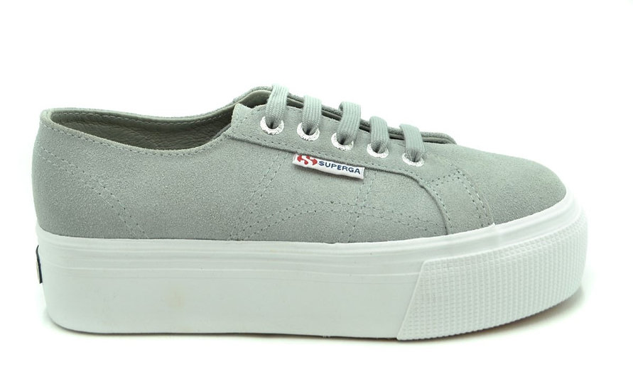 Women's SUPERGA Designer Shoes - Gray Chamois